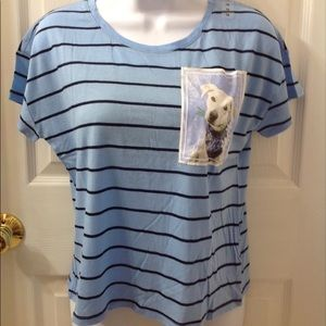 New Justice Blue Striped T-Shirt